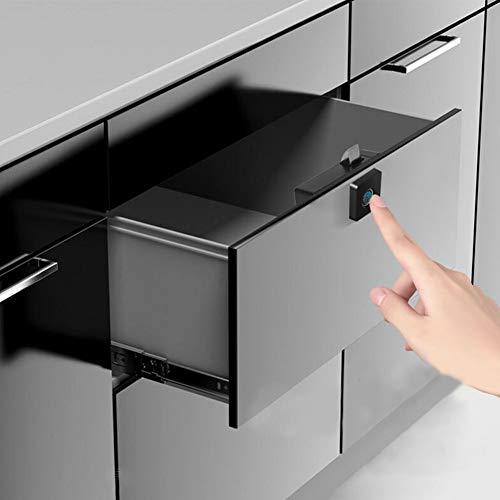 FLOX Fingerabdruck-Schloss, Schrankschlösser, schlüssellos, Holzbox, Möbel, Schublade, Fingerabdruckschlösser, Anti-Diebstahl-Safe Schloss – geeignet für Zuhause und Büro (schwarz)
