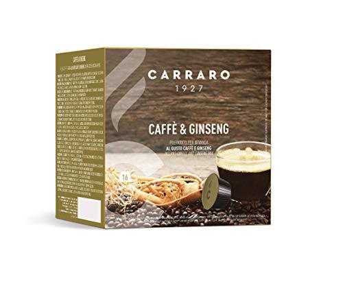 Caffè Carraro, selezione Ginseng Carraro, Compatibili Dolce Gusto, 6 Astucci da 16 Capsule: 96 Capsule