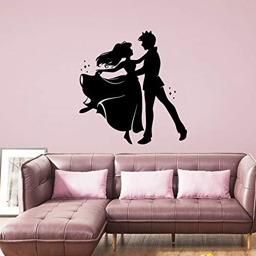 SLQUIET Personalizable princesa y príncipe pegatina de pared a prueba de agua colgante de pared art deco jardín de infantes decoración de la habitación pegatina mural pegatina azul M 30cm X 31cm