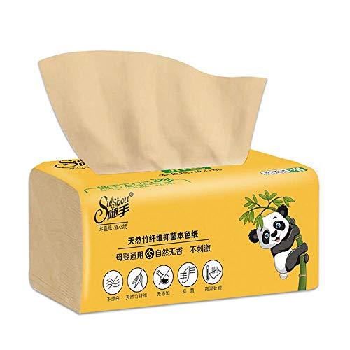 8 pakjes bamboepulp gezichtsweefsels Milieuvriendelijk gerecycled papier Thuisgebruik Zachte dinerservetten (300 stks/pak) Toiletpapier