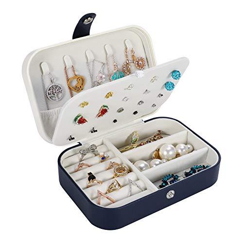 miuse Jewellery Box Organisator, kleine reisjuwelen Opbergtas voor ringen Oorbellen Ketting Armbanden Sieraden Geschenkdoos voor Meisjes Vrouwen