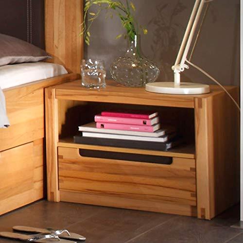 Möbel Akut Nachtkommode Colorado Schlafzimmer Nachttisch Holz Kernbuche teilmassiv MTI Schubkasten
