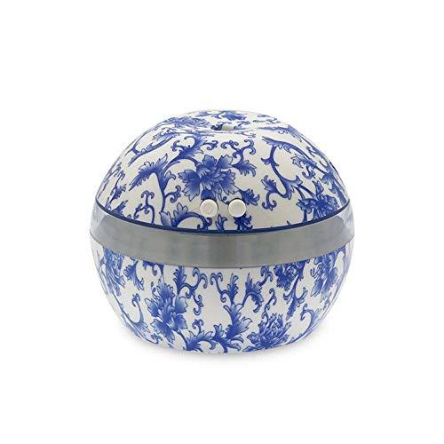 Humidificador USB de Porcelana Azul Y Blanco, 300ML Cantidad De Niebla USB Silenciosa, Purificador De Aire