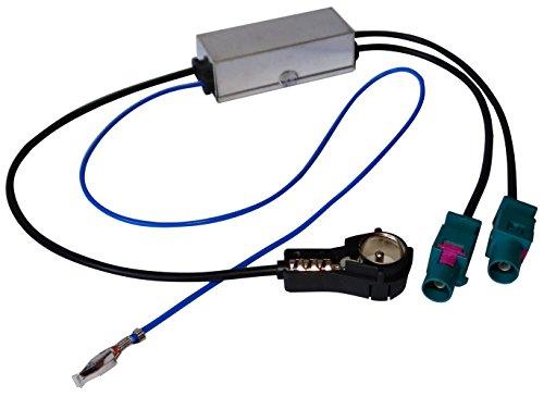 AERZETIX - Adaptateur séparateur - d'Antenne Auto autoradio - Double FAKRA-ISO - pour Auto Voiture - C11999