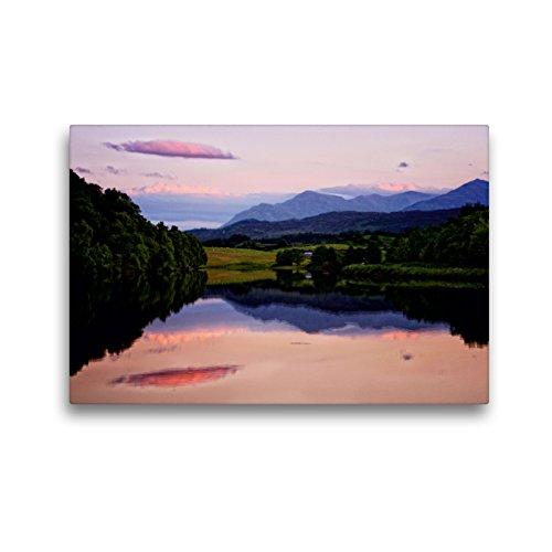Premium Textil-Leinwand 45 x 30 cm Quer-Format Caledonian Canal, Schottland   Wandbild, HD-Bild auf Keilrahmen, Fertigbild auf hochwertigem Vlies, Leinwanddruck von Martina Cross