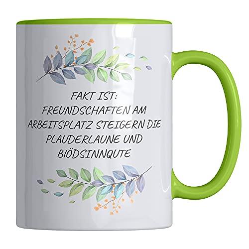 Taza de café con texto en alemán «Freundschaften am Arbeitlatz», divertida taza de 330 ml, apta para lavavajillas y microondas, elegante taza de Your Gravur