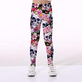 xunyihua Girls Sports Pants Leggings for Children Printing 3D Printing Skeleton Flamingo Kid Teenagers Yoga Pants Trousers Girls Clothes