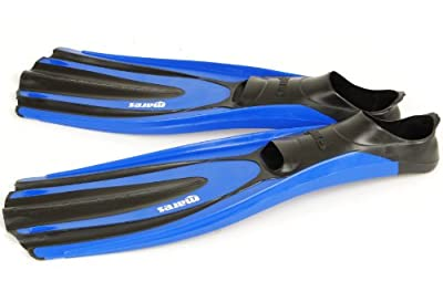 Mares Superchannel Full Foot Scuba Fins, Blue - 8-9