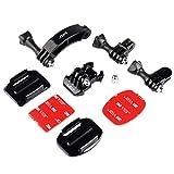 HSU Casco Mount Set Compatibile per GoPro Hero 9 8 7 Rotary Extension Arm Sport Action Camera Accessori Kit Moto Curvo mento Pivot Connettore