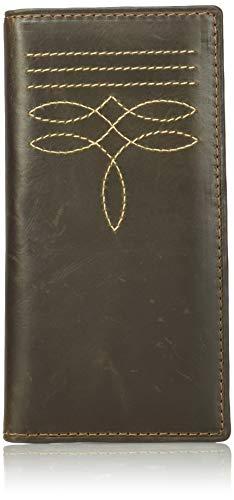 Wrangler Leather Rodeo Wallet Billetera, Coñac - Puntada para Botas, Talla única para Hombre