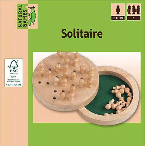 Natural Games Solitaire Holz 12 cm
