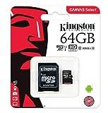 Kingston Micro SD Card 64GB classe 10 Canvas
