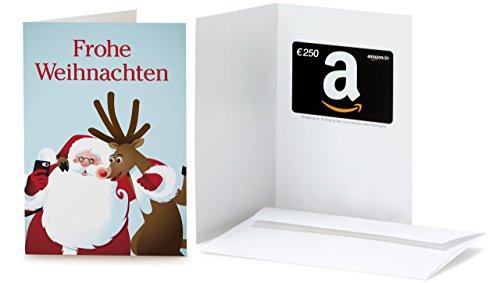 Amazon.de Geschenkkarte in Grußkarte - 250 EUR (Selfie Santa)