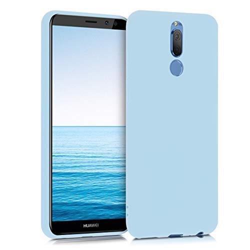 kwmobile Hülle kompatibel mit Huawei Mate 10 Lite - Hülle Silikon - Soft Handyhülle - Handy Case in Hellblau matt