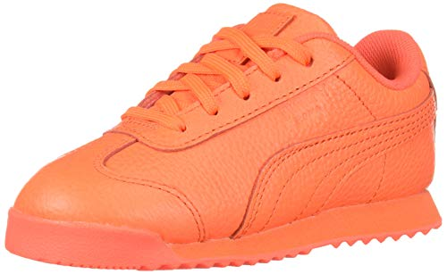 PUMA baby girls Roma Basic Sneaker, Nrgy Redyellow Alert, 6 Toddler US