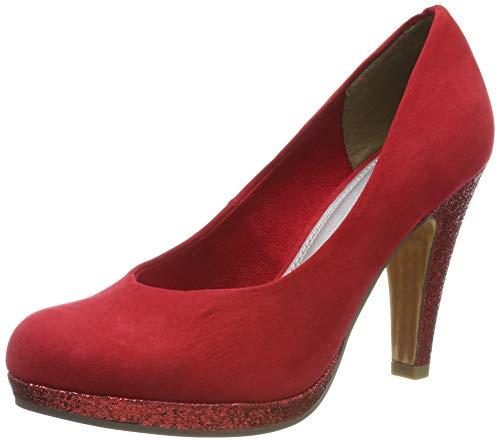 Marco Tozzi 2-2-22441-33, Zapatos con Plataforma para Mujer, Rojo (Red Comb 597), 40 EU