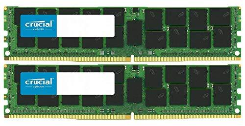 Crucial Bundle with 64GB (2 x 32GB) DDR4 PC4-21300 2666MHz RDIMM (2 x CT32G4RFD4266), Dual Ranked Registered ECC Memory