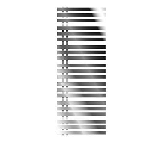 ECD Germany Iron EM Design Badheizkörper - 600 x 1600 mm - Chrom - Designheizkörper Paneelheizkörper Heizkörper Handtuchwärmer Handtuchtrockner Heizung Radiator