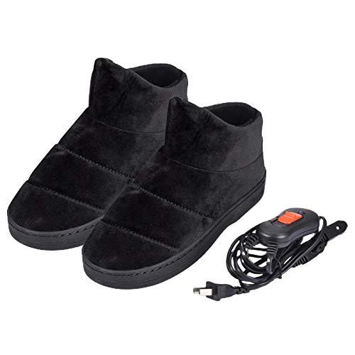 Zapatillas Calefactables Zapatillas Calefactoras Antideslizantes con Forro De Felpa Cálido Calzado Interior...