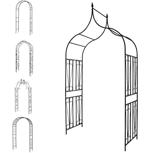 1PLUS Robuster Rosenbogen aus Stahl (Albertine ca. 270 x 140 x 60 cm)