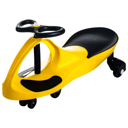 Ride on Toy Wiggle Car by Lil' Rider - Ride on Toys for Boys and Girls, 2 Year Old And Up, (Yellow)