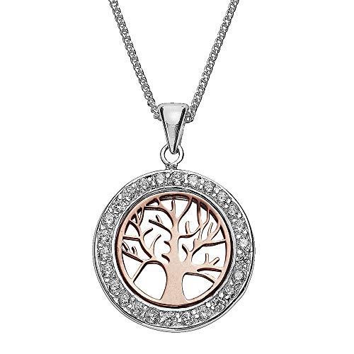 Zeeme 299240101 - Ciondolo da donna in argento Sterling 925, con zirconi, 45 cm, colore: Rosso
