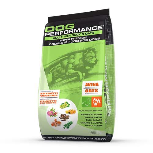 DOG Performance Crocchette per Cani Super Premium Anatra e Avena, Low Grain. Alimento per Cani a Basso Indice Glicemico....