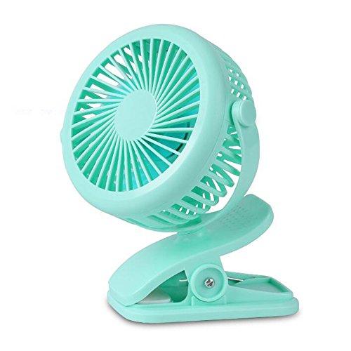 YUN&DSC Mini ventilador recargable mini estudiante dormitorio cama silenciosa recepción de noche clip USB tipo Fan Clip se puede utilizar cuando se carga opcionalmente Color (Color: Green)