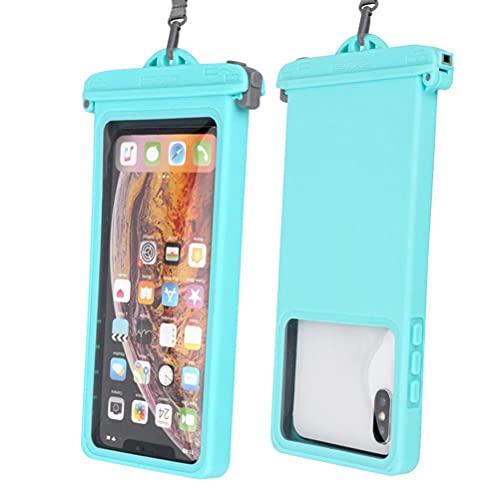 CeFoney Funda universal impermeable para teléfono subacuático bolsa transparente impermeable para teléfono móvil con cordón para buceo de hasta 6.9 pulgadas