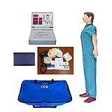 GXGX CPR TRAIFICACIÓN Manikin Manikin CARDIOPULMONARIO Simulador Adulto Cuerpo Completo Primeros Auxilios Resucitación Dummy, con Monitor de RCP para la enseñanza médica