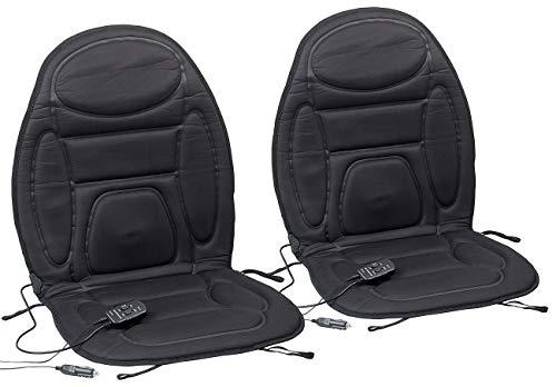 Lescars Sitzheizung Auto: 2er-Set 2in1-Kfz-Sitzauflagen, Massage- & Heizfunktion, Fernbedienung (Kfz Sitzheizung)