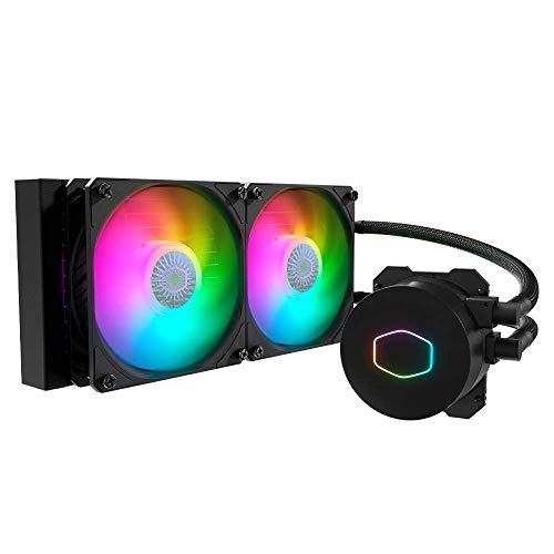Cooler Master MasterLiquid ML240L ARGB V2, Close-Loop AIO CPU Liquid Cooler, 3rd Gen Dual Chamber Pump, Dual SickleFlow 120mm for AMD Ryzen/Intel LGA 1200/1151 (MLW-D24M-A18PA-R2)