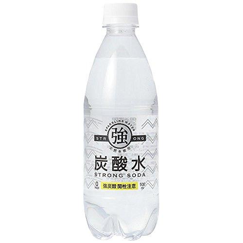 『友桝飲料 強炭酸水 プレーン 天然水使用 STRONG SODA 500ml×24本』のトップ画像