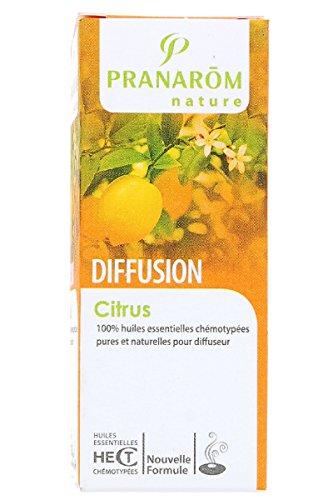 Pranarom - Diffusion synergies citrus - 30 ml huile essentielle - Fragance citronnée, tonique et sub