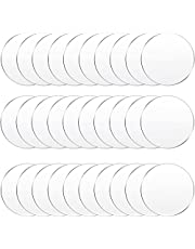30 Pieces Clear Acrylic Circles Clear Disc Transparent Acrylic Round Circle Clear Disc Acrylic Sheet Acrylic Plastic Disc for Art Project and DIY for Drink or Protection for Furniture (2 Inch)