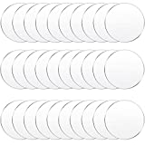 30 Pieces Clear Acrylic Circles Clear Disc Transparent Acrylic Round Circle Clear Disc Acrylic Sheet Acrylic Plastic Disc for Art Project and DIY for Drink or Protection for Furniture (4 Inch)