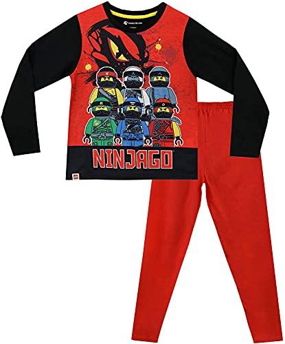 LEGO Ninjago Schlafanzug Pyjama Jungen (Rot, 104)