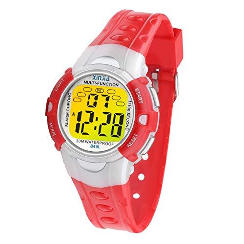 clasificación y comparación Reloj digital para niños, 7 colores, con luz LED, para niños y niñas, impermeable, reloj… para casa