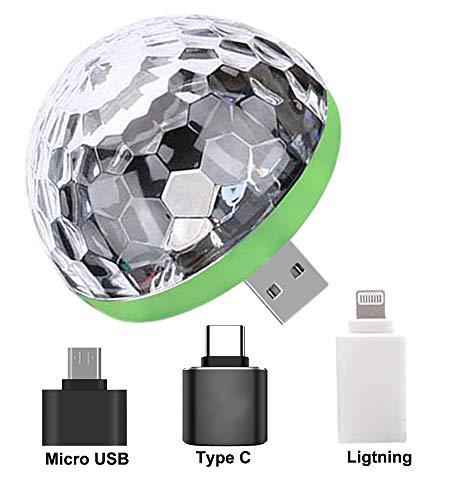 Seama USB Party Lichter Mini Disco Ball, Bunte Stroboskop RGB Lampe für Weihnachten, Hochzeit, Familienfeste und Geburtstagsfeiern von Freunden