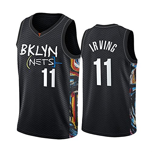 GFQTTY Camiseta De La NBA para Hombre, Brooklyn Nets # 11 City Edition Uniforme De Baloncesto Bordado Transpirable Chaleco Transpirable Fresco Baloncesto Swingman Jersey