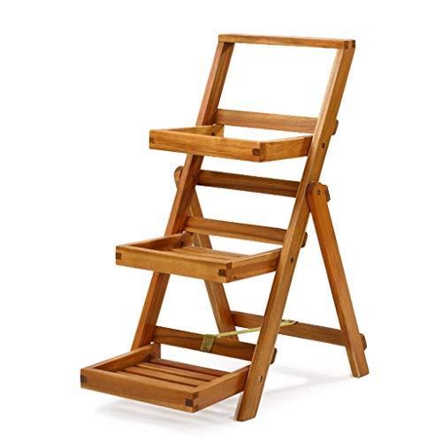 FL- Balcon de support en bois massif, étagère de salle de séjour intérieure multi-couche (taille : 40 * 63.5 * 80.5cm)