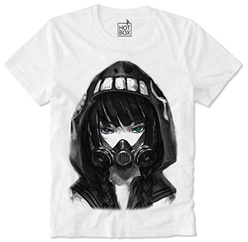 Hotbox T Shirt Cyber Punk Girl Cyberpunk Anime Manga Gas Mask S