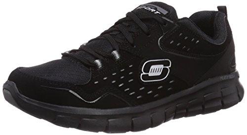 Skechers Skechers Damen SynergyFront Row Sneaker, Schwarz (BBK), 37