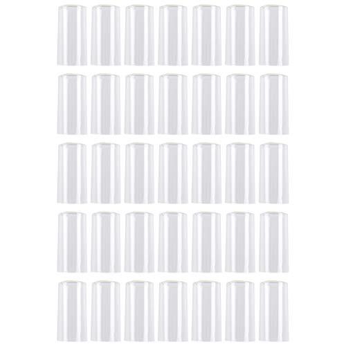 Hemoton 100 Stück PVC-Schrumpfkapseln Weinflaschenkapseln Weinschrumpffolie Geeignet für Weinflaschen Heimgebrauch 30Mm (Klar)