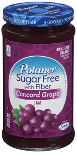Polaner Concord Grape, Sugar Free With Fiber Preserves, 13.5oz