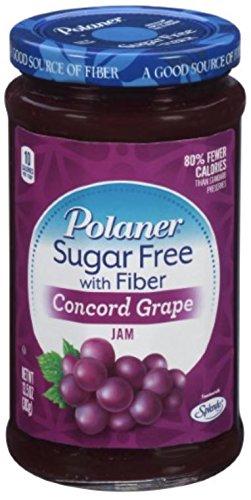 Polaner Concord Grape, Sugar Free With Fiber Preserves, 13.5oz