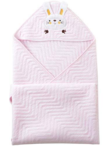 Cute Wink おくるみ うさぎ ベビーブランケット ピンク