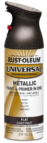 Rust-Oleum 271471 Universal All Surface Spray Paint, 11 oz, Flat Metallic Chestnut