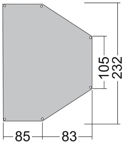 Tatonka Tent-kleine onderdelen Apsidenunter, 3711