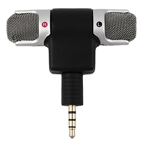 Portable Mini Mic, Digital Stereo Microfoon Voor Recorder Mobile Phone Sing Song Karaoke 3.5Mm Jack